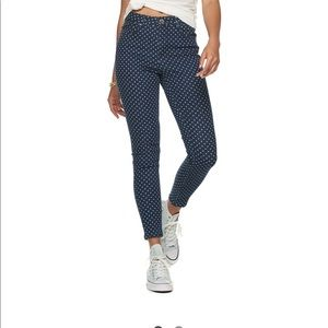 Almost famous high rise skinny jeans
